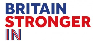 "Embargoed to 0001 Monday October 12 Undated handout photo issued Britain Stronger In Europe group of their logo. The campaign to keep Britain in the EU is formally launching with a warning that exit would be a ""leap in the dark"" and cost every household thousands of pounds.  PRESS ASSOCIATION Photo. Issue date: Monday October 12, 2015. Unveiling his team fighting for an ""in"" vote at the looming referendum, businessman Lord Rose will brand those wanting to leave the union ""quitters"". See PA story POLITICS EU. Photo credit should read: Britain Stronger In Europe/PA Wire NOTE TO EDITORS: This handout photo may only be used in for editorial reporting purposes for the contemporaneous illustration of events, things or the people in the image or facts mentioned in the caption. Reuse of the picture may require further permission from the copyright holder."
